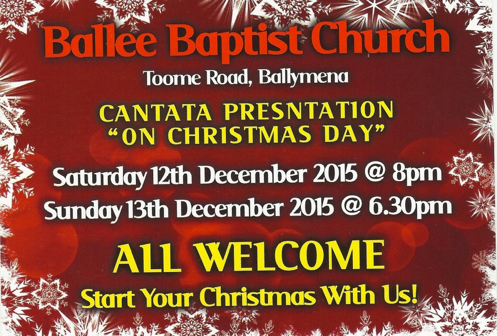 ballee baptist cantata on christmas day will get your christmas off to a great start - What Is A Christmas Cantata