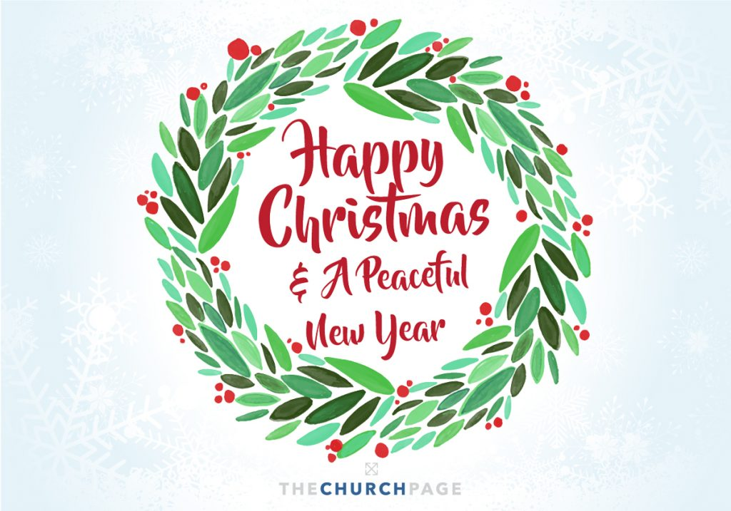 happy christmas and a peaceful new year from the church page