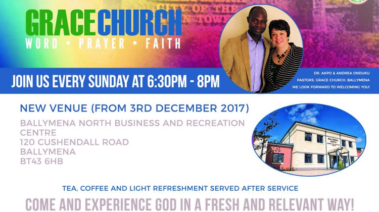 Grace Church Ballymena Are Moving to a New Venue