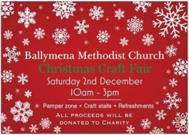 Ballymena Methodist Church Christmas Craft Fair