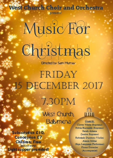 West Church Ballymena Present Music For Christmas