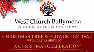 Christmas Tree and Flower Festival at West Church Ballymena