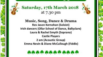 St Patrick's Night Concert and Supper – 17th March 2018