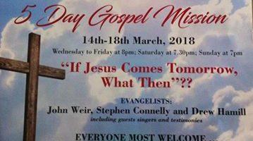 Gospel Mission at Victoria Evangelical Hall Carrickfergus